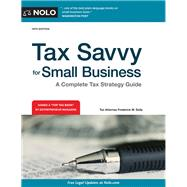 Tax Savvy for Small Business by Daily, Frederick W., 9781413324235
