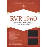 RVR 1960 Biblia Letra Súper Gigante, negro/rojo en piel fabricada by Unknown, 9781462744244