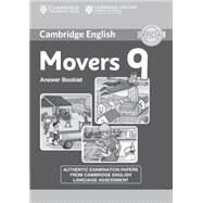 Cambridge English Young Learners 9 Movers Answer Booklet by Not Available (NA), 9781107464247