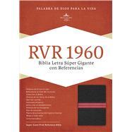 RVR 1960 Biblia Letra Súper Gigante, negro/rojo en piel fabricada con índice by Unknown, 9781462744251