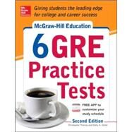McGraw-Hill Education 6 GRE Practice Tests, 2nd Edition by Zahler, Kathy; Thomas, Christopher, 9780071824255