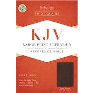 KJV Large Print Ultrathin Reference Bible, Brown Genuine Cowhide Indexed by Holman Bible Staff, 9781586404260