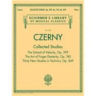 Czerny: Collected Studies - Op. 299, Op. 740, Op. 849: Schirmer's Library of Musical Classics by Czerny, Carl (COP), 9781495004261