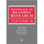 Handbook of Reading Research, Volume II by Barr; Rebecca, 9781138834262