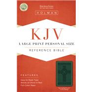 KJV Large Print Personal Size Reference Bible, Green Cross Design LeatherTouch by Unknown, 9781586404277