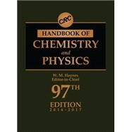 CRC Handbook of Chemistry and Physics, 97th Edition by Haynes; William M., 9781498754286