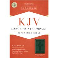 KJV Large Print Compact Reference Bible, Green Cross Design LeatherTouch by Unknown, 9781586404291