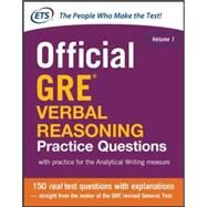 Official GRE Verbal Reasoning Practice Questions by Educational Testing Service, 9780071834292