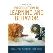 Introduction to Learning and Behavior by Powell, Russell A.; Honey, P. Lynne; Symbaluk, Diane G., 9781111834302