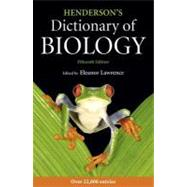 Henderson's Dictionary of Biology by Lawrence, Eleanor, 9781408234303