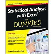 Statistical Analysis with Excel for Dummies by Schmuller, Joseph, 9781118464311