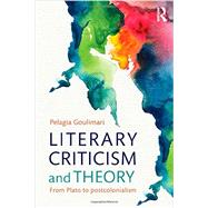 Literary Criticism and Theory: From Plato to Postcolonialism by Goulimari; Pelagia, 9780415544313