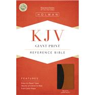 KJV Giant Print Reference Bible, Black/Tan LeatherTouch Indexed by Unknown, 9781586404321