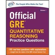 Official GRE Quantitative Reasoning Practice Questions by Unknown, 9780071834322