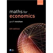 Maths for Economics by Renshaw, Geoff, 9780198704379