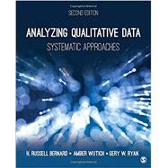 Analyzing Qualitative Data by Bernard, H. Russell; Wutich, Amber; Ryan, Gery W., 9781483344386