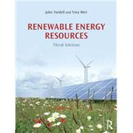 Renewable Energy Resources by Twidell; John, 9780415584388