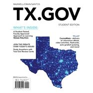 TX.GOV (with CourseMate Printed Access Card) by Maxwell, William Earl; Crain, Ernest; Santos, Adolfo, 9781133964414