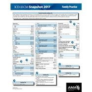 ICD-10 2017 Snapshot Coding Card Family Practice by American Medical Association, 9781622024421