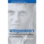 Wittgenstein's  Philosophical Investigations: An Introduction by David G. Stern, 9780521814423