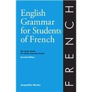 English Grammar for Students of French by Morton, Jacqueline; Neu, Helene (COL), 9780934034425