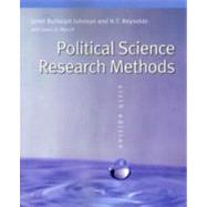 Political Science Research Methods by Johnson, Janet Buttolph, 9780872894426
