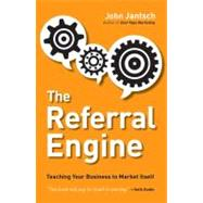 The Referral Engine: Teaching Your Business to Market Itself Publisher: Penguin Group USA Publish Date: 9/25/2012 Language: ENGLISH Pages: 243 Weight: 1.24 ISBN-13: 9781591844426 Dewey: 380
