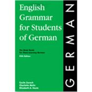 English Grammar for Students of German by Zorach, Cecile; Melin, Charlotte; Oberlin, Adam, 9780934034432
