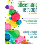 Differentiating Instruction by Thousand, Jacqueline S.; Villa, Richard A.; Nevin, Ann I., 9781483344454