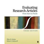 Evaluating Research Articles from Start to Finish by Ellen R. Girden, 9781412974462