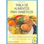 Tabla de Alimentos para Diabeticos / Diabetes by Fritzsche, Doris, 9788425514470