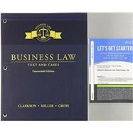 Bundle: Business Law: Text and Cases, Loose-Leaf Version, 14th + MindTap Business Law, 1 term (6 months) Printed Access Card by Clarkson, Kenneth W.; Miller, Roger LeRoy; Cross, Frank B., 9781337374491