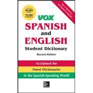 VOX Spanish and English Student Dictionary, Hardcover, 2nd Edition by Vox, 9780071814515
