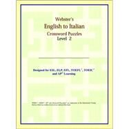 Webster's English to Italian Crossword Puzzles: Level 2 by ICON Reference, 9780497254520