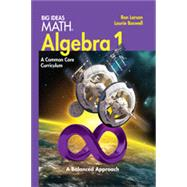 Larson Big Ideas Common Core Algebra 1 by Houghton Mifflin Harcourt, 9781608404520