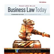 Business Law Today, Standard Text & Summarized Cases by Miller, Roger LeRoy, 9781305644526