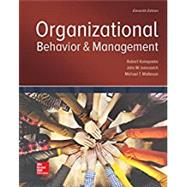 Organizational Behavior and Management by Konopaske, Robert; Ivancevich, John; Matteson, Michael, 9781259894534