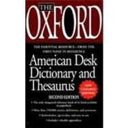 The Oxford American Desk Dictionary Andthesaurus, Second Edition by Oxford University Press, 9780780794535