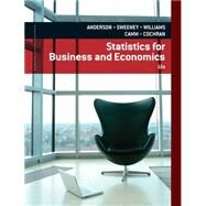 Statistics for Business and Economics by Anderson, David Ray, 9781133274537