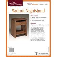Fine Woodworking Walnut Nightstand by Cullen, Michael, 9781631864551