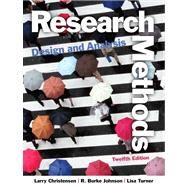 Research Methods, Design, and Analysis Plus MysearchLab with eText -- Access Card Package by Christensen, Larry B.; Johnson, R. Burke; Turner, Lisa A., 9780205944569