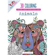 3D Coloring Animals by Segal, Emma, 9781626864580
