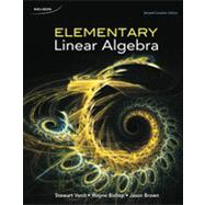 Elementary Linear Algebra by VENIT/BISHOP/BROWN, 9780176504588