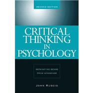 Critical Thinking in Psychology Separating Sense from Nonsense by Ruscio, John, 9780534634599