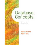 Database Concepts by Kroenke, David M.; Auer, David J., 9780133544626
