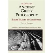 Readings in Ancient Greek Philosophy: From Thales to Aristotle by Cohen, S. Marc; Curd, Patricia; Reeve, C. D. C., 9781603844628