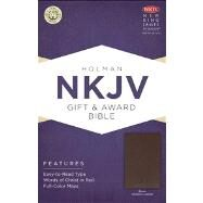 NKJV Gift & Award Bible, Brown Imitation Leather by Unknown, 9781433604638
