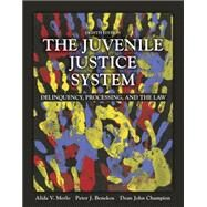 The Juvenile Justice System Delinquency, Processing, and the Law by Merlo, Alida V.; Benekos, Peter J.; Champion, Dean J., 9780133754643