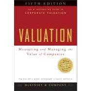 Valuation : Measuring and Managing the Value of Companies by Unknown, 9780470424650