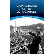 Great Speeches of the 20th Century by Blaisdell, Bob, 9780486474670